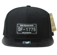 SM860 San Francisco City Snapback (Black & Black)