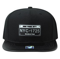 SM860 New York City Snapback (Black & Black)