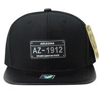 SM860 Arizona State Snapback (Black & Black)