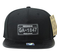 SM860 Georgia State Snapback (Black & Black)