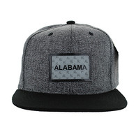 SM814 Alabama Cotton Snapback Cap Hat (Charcoal & Black)