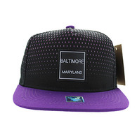 SM852 Baltimore City Snapback (Black & Purple)