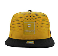 SM852 Pittsburgh Snapback (Gold & Black)