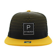 SM852 Pittsburgh Snapback (Black & Gold)