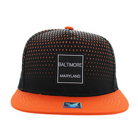 SM852 Baltimore City Snapback (Black & Orange)