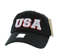 BM573 USA Cotton Buckle Cap (Solid Black)