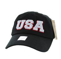BM573 USA Cotton Buckle Cap (Solid Black)