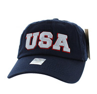 BM573 USA Cotton Buckle Cap (Solid Navy)