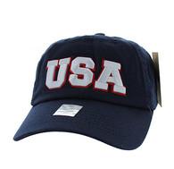 BM573 USA Cotton Buckle Cap (Solid Navy)