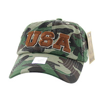 BM573 USA Cotton Buckle Cap (Solid Military Camo)