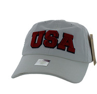 BM573 USA Cotton Buckle Cap (Solid White)