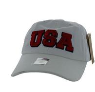 BM573 USA Cotton Buckle Cap (Solid White)