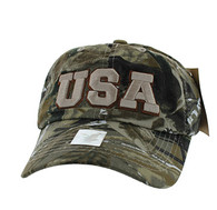 BM573 USA Cotton Buckle Cap (Solid Hunting Camo)