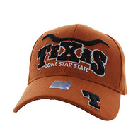 VM002 Texas Velcro Cap (Solid Texas Orange)