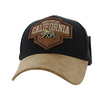VM644 Cali Bear Cotton Velcro Cap (Black & Brown)