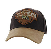 VM644 Cali Bear Cotton Velcro Cap (Brown & Brown)