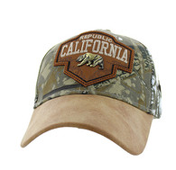 VM644 Cali Bear Cotton Velcro Cap (Hunting Camo & Brown)