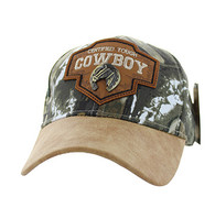 VM644 Cowboy Cotton Velcro Cap (Hunting Camo & Brown)