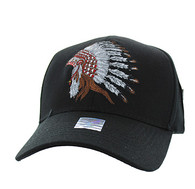 VM811 Native Pride Indian Velcro Cap (Solid Black)