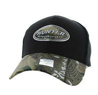 VM815 Hunter Velcro Cap (Black & Hunting Camo)