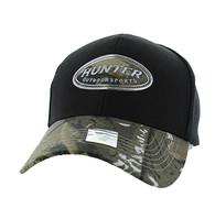 VM815 Hunter Velcro Cap (Black & Hunting Camo)