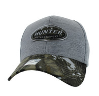 VM815 Hunter Velcro Cap (Grey & Hunting Camo)
