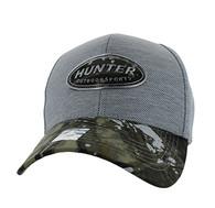 VM815 Hunter Velcro Cap (Grey & Hunting Camo)