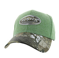 VM815 Hunter Velcro Cap (Green & Hunting Camo)