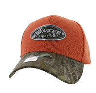 VM815 Hunter Velcro Cap (Orange & Hunting Camo)