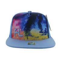 SM853 Florida Mesh Snapback Cap Hat (Solid Sky Blue)
