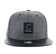 SM859 Chicago Snapback (Charcoal & Black)