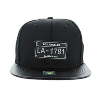 SM860 Los Angeles City Snapback (Black & Black)