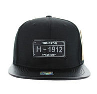 SM860 Houston City Snapback (Black & Black)