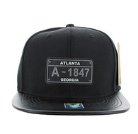SM860 Atlanta City Snapback (Black & Black)