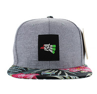 SM525 Mexico Eagle Cotton Snapback (Grey & Flower)