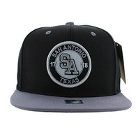 SM804 San Antonio City Snapback (Black & Grey)