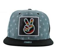 SM809 Marijuana Snapback Cap (Sage & Black)