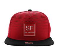 SM852 San Francisco City Snapback (Red & Black)