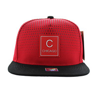 SM852 Chicago City Snapback (Red & Black)