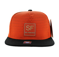 SM852 San Francisco City Snapback (Orange & Black)