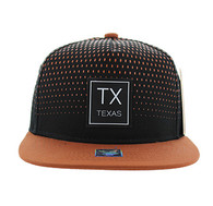 SM852 Texas State Snapback (Black & Texas Orange)