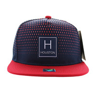 SM852 Houston City Snapback (Navy & Red)