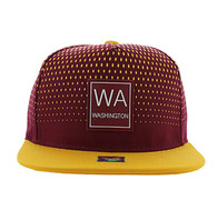 SM852 Washington State Snapback (Burgundy & Gold)