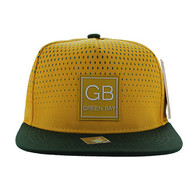 SM852 Green Bay City Snapback (Gold & Dark Green)