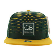 SM852 Green Bay City Snapback (Dark Green & Gold)