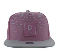 SM852 Dallas City Snapback (Light Pink & White)