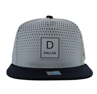 SM852 Dallas City Snapback (White & Navy)