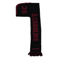 WS010 South Carolina Hoodie Scarf (Black & Burgundy)
