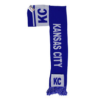 WS030 Kansas City Hoodie Scarf (Royal & White)