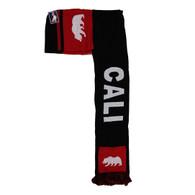 WS030 Cali Bear Hoodie Scarf (Black & Red)